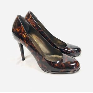 Stuart Weitzman marbled patent leather heels pumps